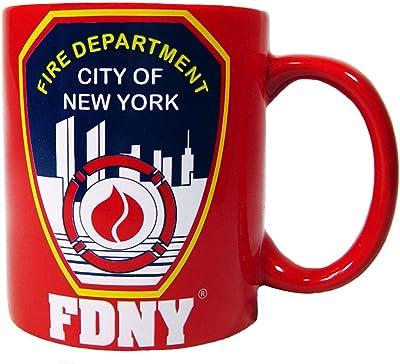 FDNYマグ11オンスレッド新しいYork Fire Departmentコーヒーマグ、公式