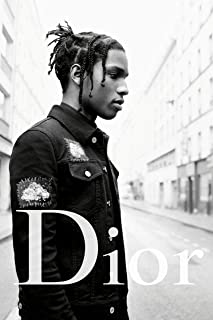 ASAP Rocky Poster Publicity Promo 12 x 18 inches Street Black and White Print Frameless Art Gift 30.5 x 46 cm