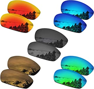 SmartVLT Set of 5 Men's Replacement Lenses for Oakley Straight Jacket 2007 Sunglass Combo Pack S02