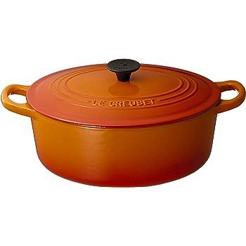 ル・クルーゼ(Le Creuset)  鋳物 ホーロー 鍋 ココット・オーバル 25 cm オレンジ ガス IH オーブン 対応  【日本正規販売品】