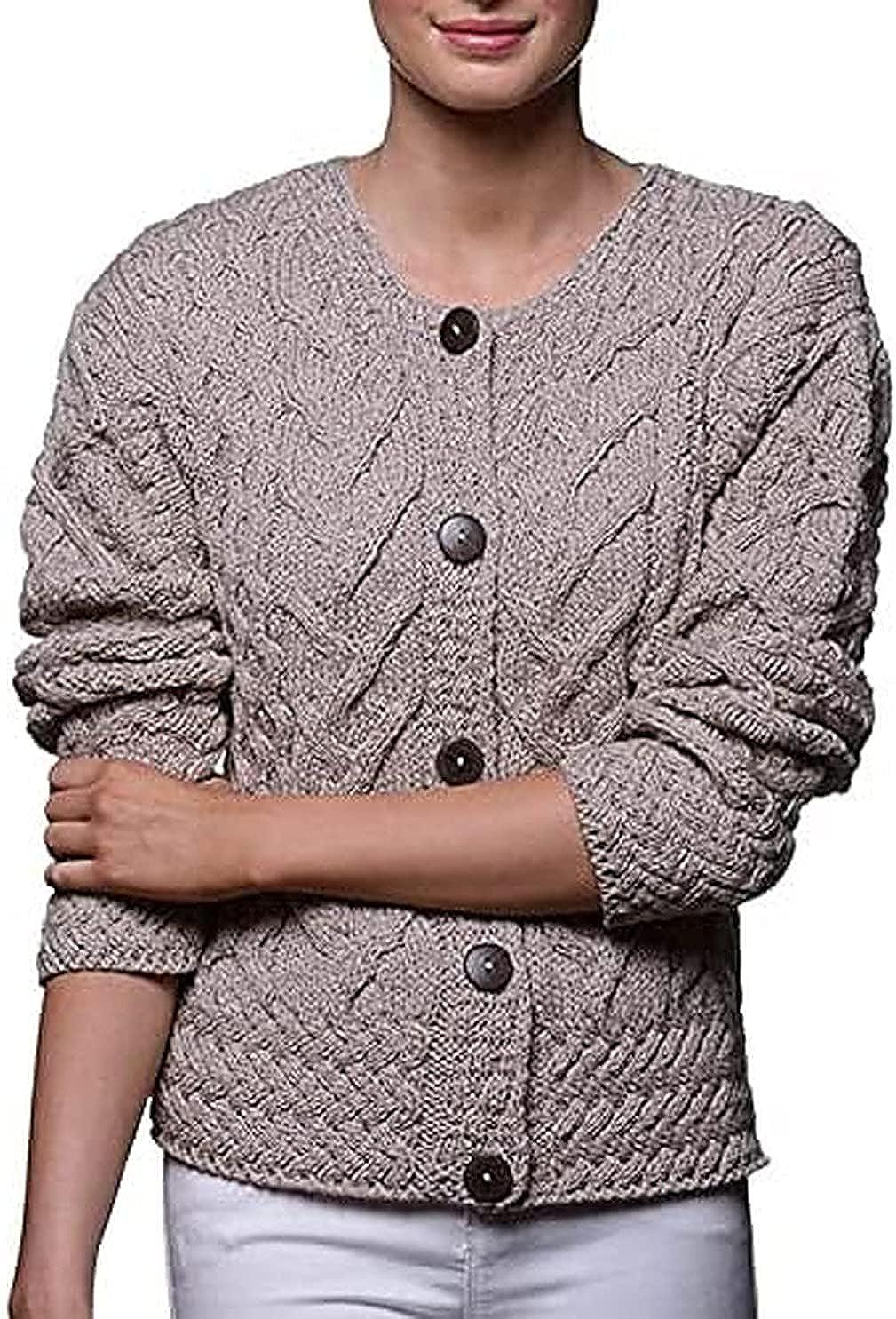 Ladies Irish Merino Wool Cardigan Made in Ireland