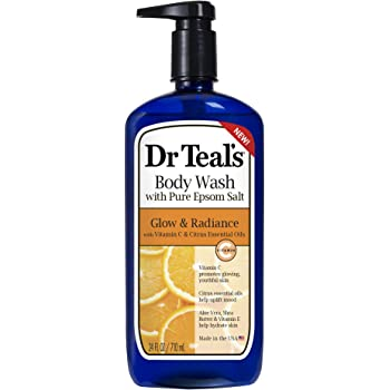 Dr. Teal's Glow & Radiance with Vitamin C & Citrus Essential Oils Body Wash 24oz Pack of 2