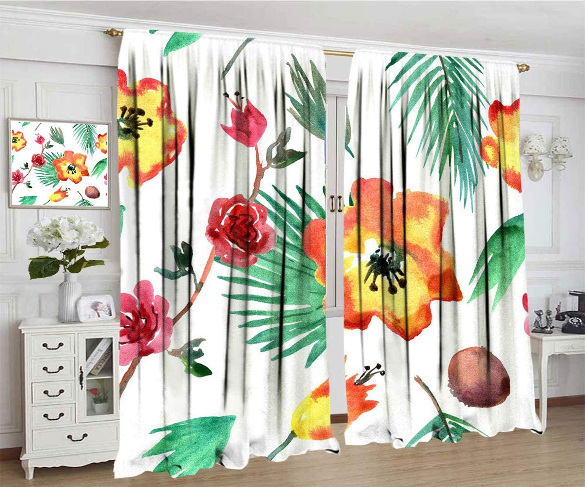 Watercolor Curtain Floral Pattern with Super beauty Dedication product restock quality top Vintage P Bright Flowers