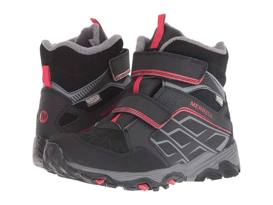 Merrell Kids Moab FST Polar Mid A/C Waterproof (Little Kid) (Red/Black) Boys Shoes