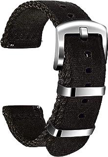 Ullchro Nylon Bracelet Montre Haute Qualité Bracelet Montre Armée Militaire - 18mm, 20mm, 22mm, 24mm Montre Bracelet avec ...