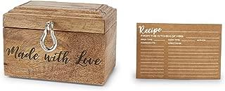 Mud Pie Bridal Cards Recipe Box, Brown