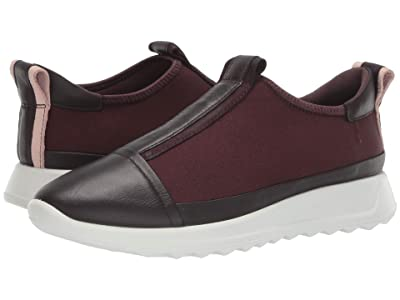 ECCO Flexure Runner Slip-On (Fig/Fig/Fig/Black/Rose Dust) Women