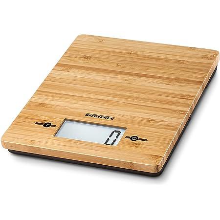 Soehnle 66308 Bamboo Balance de cuisine Bambou Brun 20,2 x 23,2 x 3,8 cm