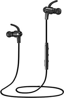 Bluetooth Headphones, VAVA MOOV 28 Wireless Sports Earphones in Ear Earbuds with 8 Hours Playtime (IPX5 Splashproof, aptX Stereo, Magnetic Aluminum Design, Noise Cancelling Mic) [並行輸入品]
