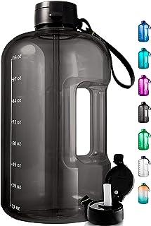 AQUAFIT 1 Gallon Water Bottle with Time Marker - Large Water Bottle Gallon Water Bottle Motivational One Gallon Water Bott...