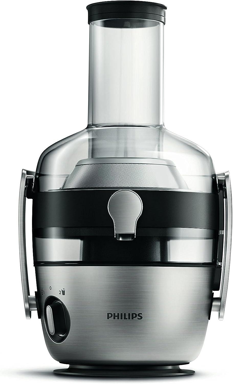 Philips Licuadora HR1922/20-Licuadora, Orificio Largo, Sistema antigoteo, Jarra incluida, Negro y Plata, 1200 W, 2.1 litros, Estireno-acrilonitrilo San, 2 Velocidades, Gris