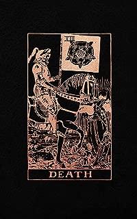 Death: Tarot Card Journal, Black and Rose Gold - College Ruled Tarot Card Notebook, 5 x 8