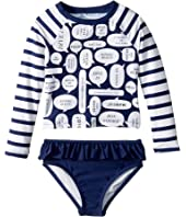 Kate Spade New York Kids - Speech Bubble Rashguard Two-Piece (Toddler/Little Kids)