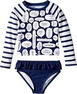 Speech Bubble Rashguard Two-Piece (Toddler/Little Kids)