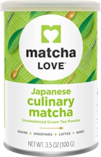 Sponsored Ad - Matcha Love Culinary Matcha 3.5 Ounce Finely Milled Green Tea Leaves, Japanese Style Matcha Powder
