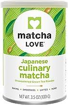 Matcha Love Culinary Matcha 3.5 Ounce Finely Milled Green Tea Leaves, Japanese Style Matcha Powder