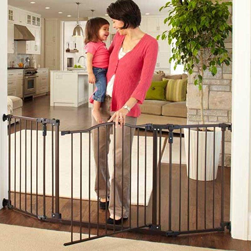 North States 72 Wide Deluxe D Cor Baby Gate Provides Safety In Extra Wide Spaces With Added One Hand Functionality Hardware Mount Fits 38 3 72 Wide 30 Tall Bronze