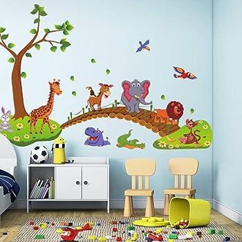 HuaYang Nouveau singe de sweet dreams sticker mural d/écoration pour les enfants