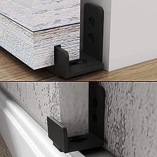 EaseLife Sturdy Sliding Barn Door Hardware Floor Guide,Adjustable Fit Distance,Flexible Mount System,for Door & Cabinet,1 Pcs