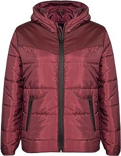 Girls Jacket Kids Padded Puffer Bubble Hooded Zipped Warm Thick Coats 3-13 Years