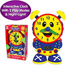 The Learning Journey Telly The Teaching Time Clock Primary Colors - Electronic Analog & Digital Time Telling Aid with Two Quiz Modes & Night Light– Preschool Toys & Gifts for Boys & Girls Ages 3 & Up