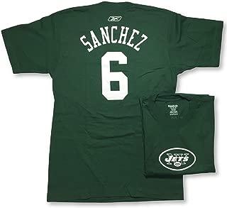 Mark Sanchez New York Jets #6 Name Number Adult Jersey T-Shirt