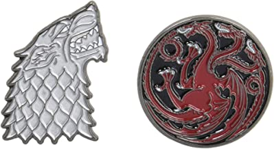 Game of Thrones Twin Pins: Stark and Targaryen Sigils: Two Enamel Pins (Enamel Pin Sets, Game of Thrones Buttons, Jewelry from Books)