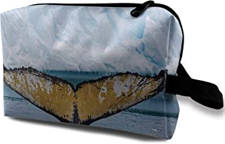 Lovesofun Antarctic Humpback Whale Tail Fin Portable Travel Storage Bags Luggage Cosmetic Packing Bag with Zipper for Travel Cubes Set for Travel