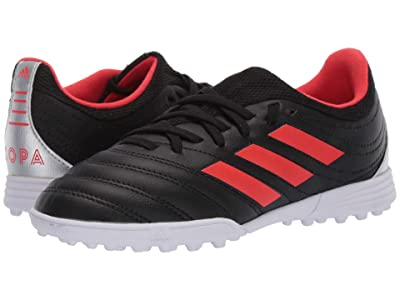 adidas Kids Copa 19.3 TF Soccer (Little Kid/Big Kid) (Black/Hi-Res Red/Silver) Kids Shoes