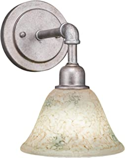 Toltec Lighting 181-AS-508 Vintage Wall Sconce with 7