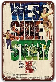 sfasf West Side Story,Vintage Films Metalen Tin Signs Poster Art Group voor Tuin Boerderij Koffie & Bar Custom 8x12 Inches
