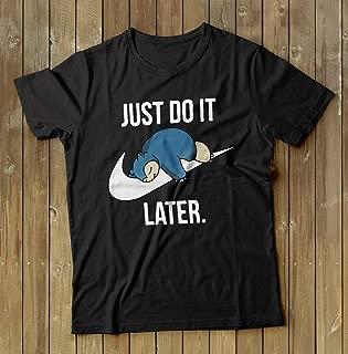 Pokemon shirt, Snorlax T-shirt, Gamers tshirt, gift for men, Pokemon Go shirt, Pikachu tshirt, Snorlax t-shirt, Just do it Later Shirt