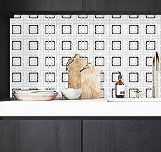 Papel de parede de treliça preto e prata, papel de parede adesivo geométrico e em relevo, papel de parede removível de tre...