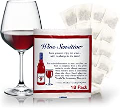 Organic Wine Sulfite Remover Filter Sachets with All Natural Ingredients For Allergy Sensitivity Hangover Prevention Remedies & Wine Filters Stops Red Wine Headaches Nausea IBS