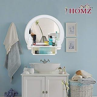 I HOMZ Heavy Beautiful Decor Designer Plastic Bathroom Cabinet Mirror (White)