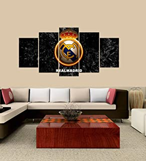PEACOCK JEWELS [Large] Premium Quality Canvas Printed Wall Art Poster 5 Pieces / 5 Pannel Wall Decor C Ronaldo Real Madrid Painting, Home Decor Pictures - Stretched