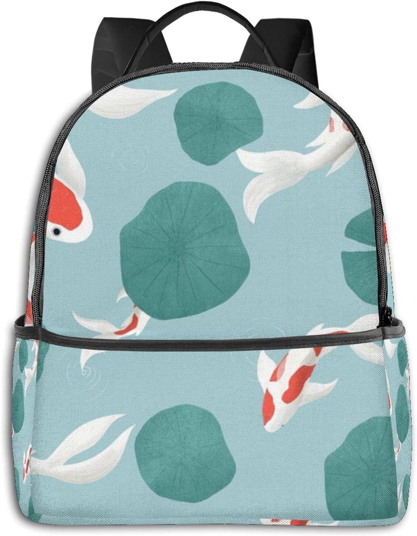 YICHIBAOEL Lightweight Backpack Laptop Bag Koi Blu Dreaming Tampa Mall Seattle Mall Carp