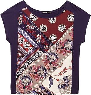 3bd195c3aca8a2 Desigual T-Shirt Short Sleeve Ganges Woman Blue Donna