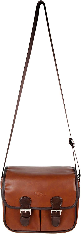 DURAGADGET Courier shipping free shipping Brown PU Vintage Leather - Courier shipping free Carry Satchel Co Bag