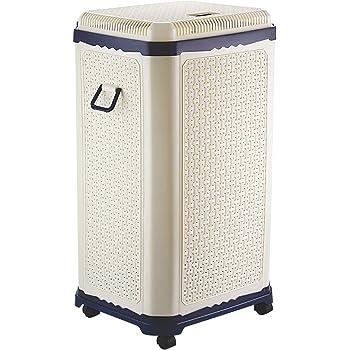 Primeway® Setag XXL Multipurpose Laundry Hamper Utility Storage Basket with Lid on 4 wheels, 65 Litres, Dark Blue