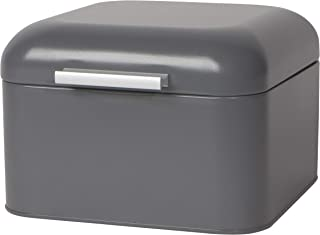 Now Designs Bakery Matte Charcoal Bread Box, Gray