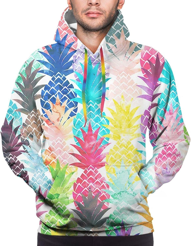Hoodie For Mens Womens Teens Hawaiian Tropical Pineapple 3d Printed Hooded Sweatshirt