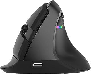 J-Tech Digital Ratón inalámbrico Ratón ergonómico Vertical, Recargable 2.4G RF y Bluetooth 4.0 Conexión inalámbrica Ratone...