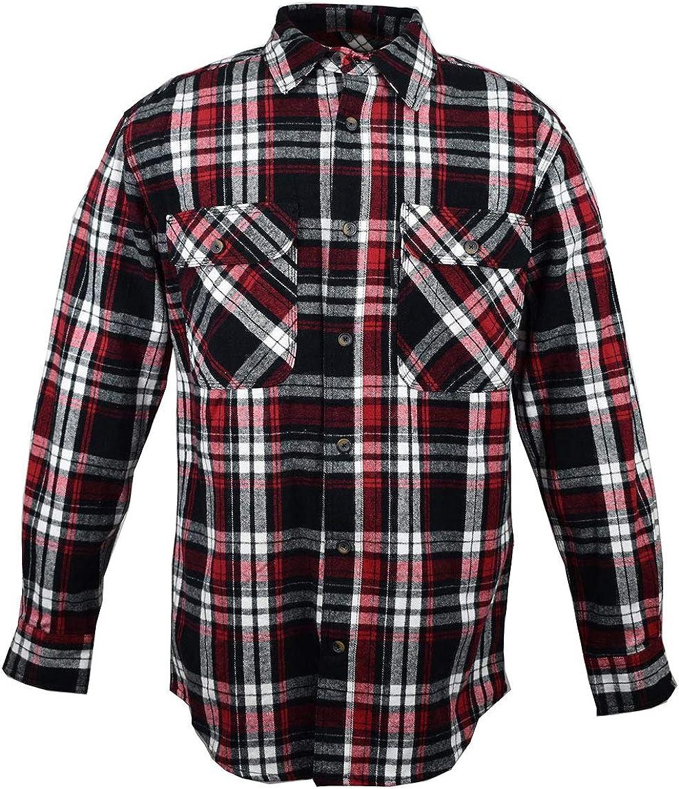 Five Brother Men's Heavyweight Regular Fit Flannel Shirt, Tall