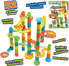 Playmind Marbutopia Build & Learn (52 pcs) Best Marble Run STEM Toy for Kid Education