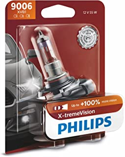 Philips 9006XVB1 9006 X-tremeVision Upgrade Headlight Bulb with up to 100% More Vision, 1 Pack