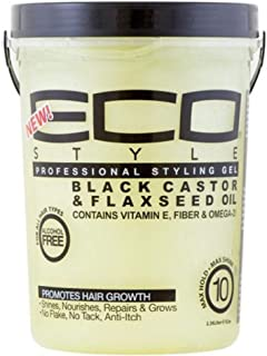 ECOCO Eco Style Gel - Black Castor Flaxseed Oil - Conditions and Shines Hair - Nourishes - Alcohol Free - Offers Maximum H...