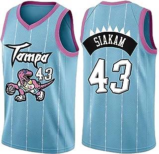 PANGOIE Men's Women Jerseys T-Shirts - 43# Siakam Basketball Sweatshirts Breathable Embroidery Vests