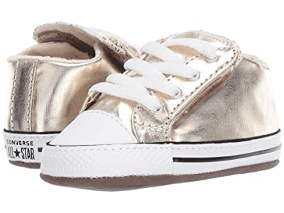 Converse Kids Chuck Taylor(r) All Star(r) Cribster Metallic Canvas Mid (Infant/Toddler) (Light Gold/Natural Ivory/White) Girls Shoes