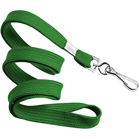 10 count Green Lanyards with Keyhook